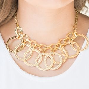 Paparazzi Jammin Jungle Gold Necklace Set